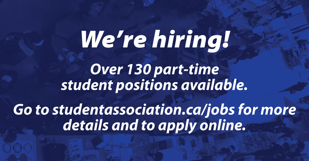 Jobs   Student Association of George Brown College